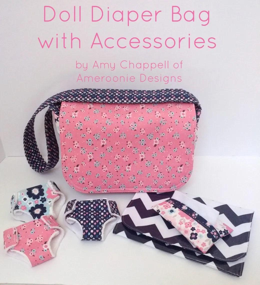 Diaper Bag Play Diaper Bag Doll Diaper Bag Toy Diaper Bag Baby Dolls