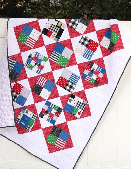 Amy Smart Quilt Tutorial Four Square pattern