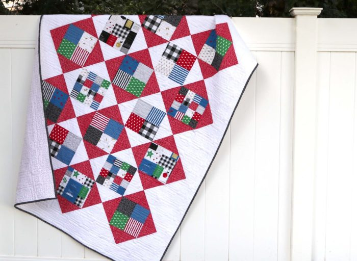 Four Square Quilt Tutorial Featuring Let Them Be Little Diary Of Enchanting Simple Square Quilt Patterns