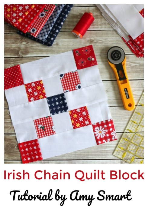Irish Chain Quilt Block Tutorial