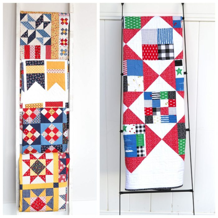 Gift ideas for Quilters - Quilt Ladders for display