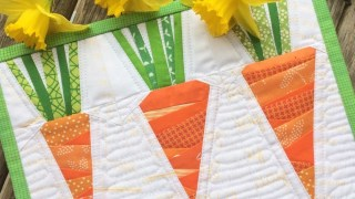 Foundation Paper Pieced Carrots Mini Quilt