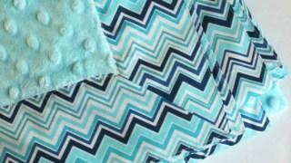 Self-binding Baby Blanket Tutorial