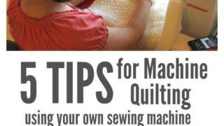 Machine Quilting on your own machine