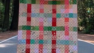 Patchwork Plaid Christmas Quilt Tutorial