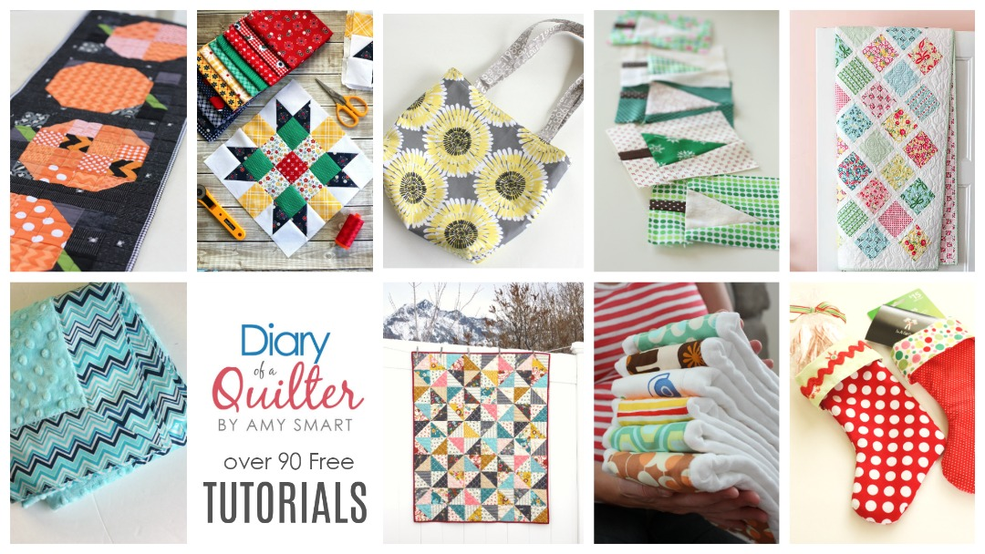 Free Quilting tutorials featured by top US quilting blog, Diary of a Quilter