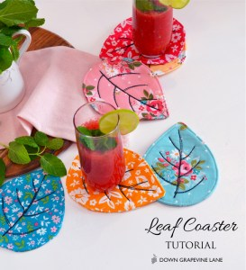 Quilted Coasters Tutorial by Sedef Imer