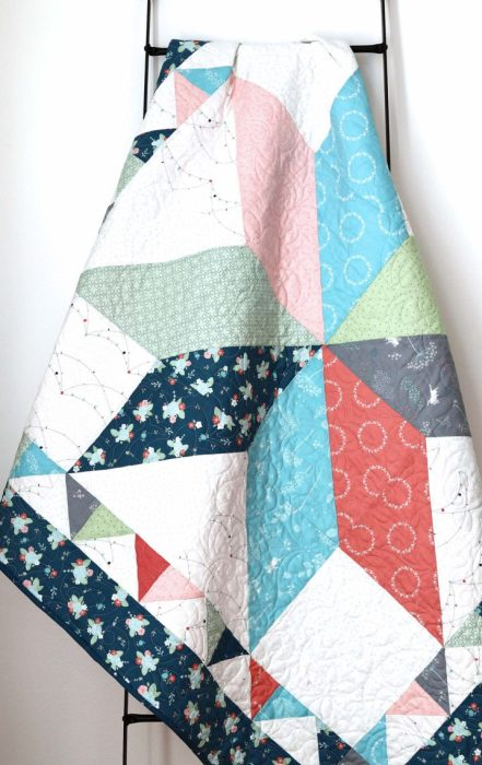 Crib Quilt Tutorial featured by top US quilting blog Diary of a Quilter