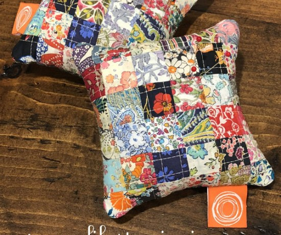 Patchwork Pincushion tutorial made with Liberty Lawns