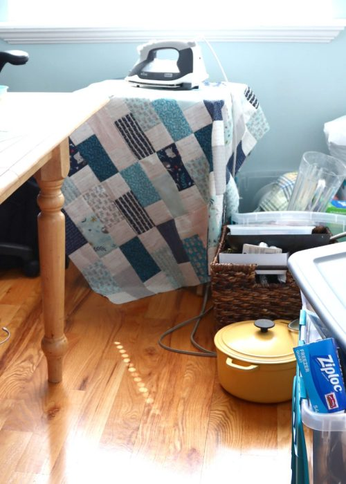 In Search of my Sewing Mojo and Other Tales of Summer by popular sewing blog, Diary of a Quilter: image of a an unorganized sewing room.