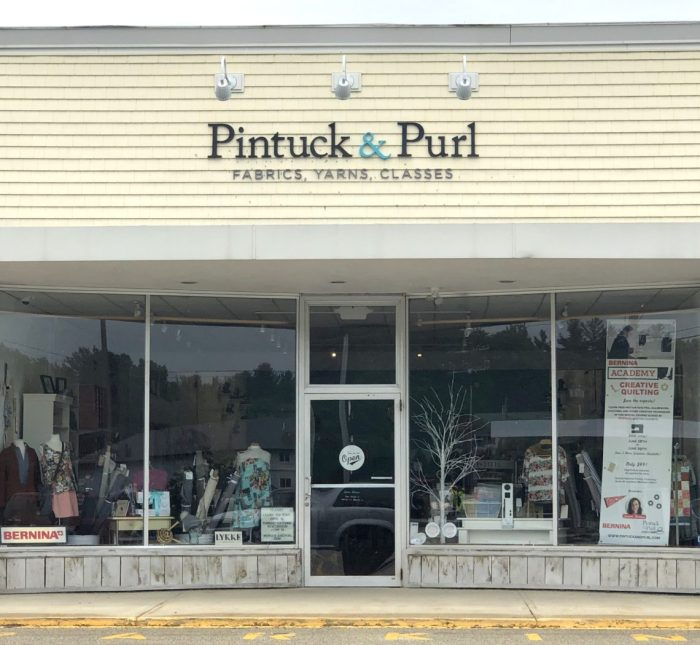 Pintuck & Purl - Modern Fabric and Knitting Shop by popular quilting blog, Diary of a Quilter: image of front exterior of Pintuck and Purl.