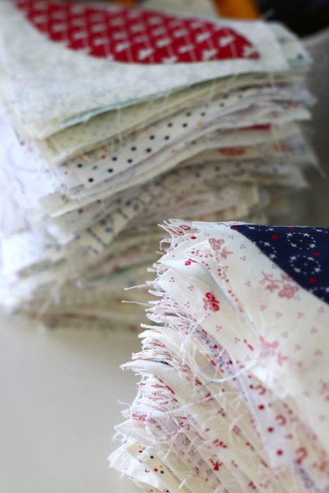 In Search of my Sewing Mojo and Other Tales of Summer by popular sewing blog, Diary of a Quilter: image of a quilting blocks in stacked piles.