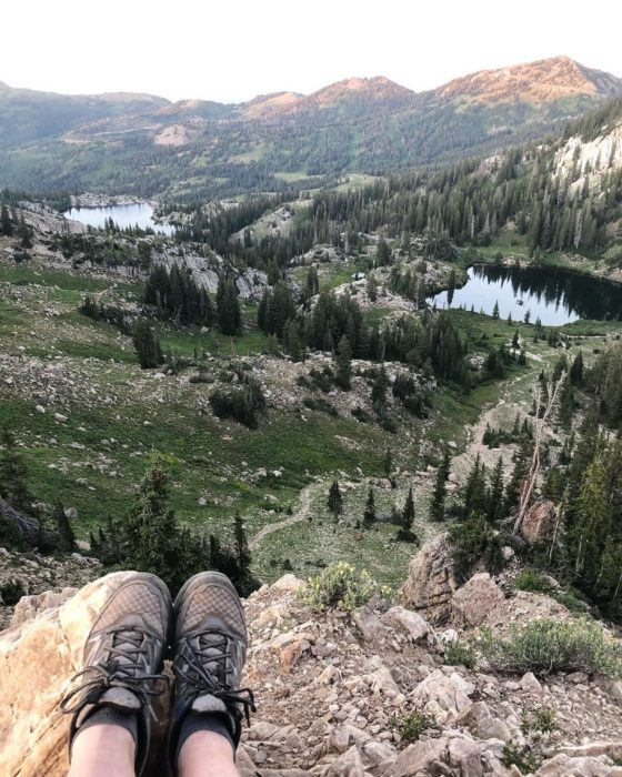 Catherine's Pass Hike Albion Basin | More Orange Peel Applique Blocks + Real Life by popular Utah quilting blog: Diary of a Quilter: image of Albion Basin in Utah.