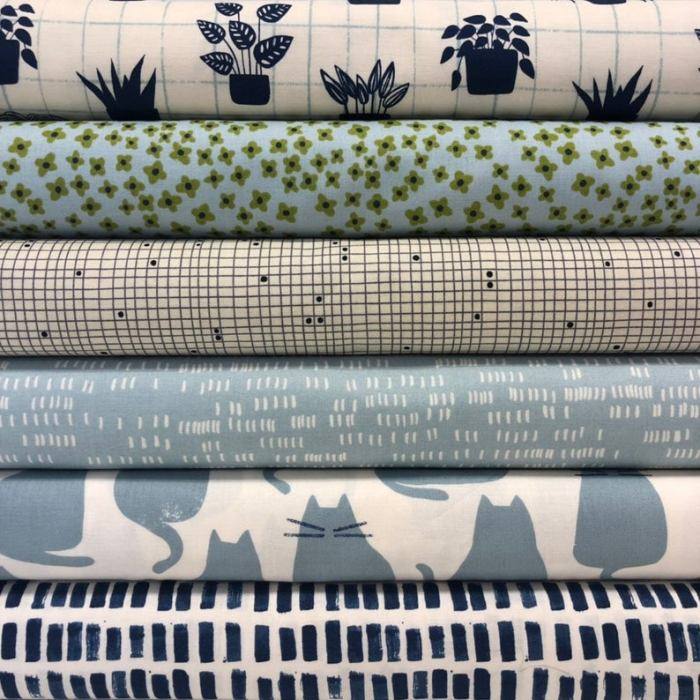 Inspiration from Modern Quilt Shop, Quilt Sandwich Fabrics by popular US quilting blog, Diary of a Quilter: image of Sonata fabric the latest collection by Amy Sinibaldi.