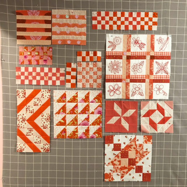 Inspiration from Modern Quilt Shop, Quilt Sandwich Fabrics by popular US quilting blog, Diary of a Quilter: image of Pop by Rashida Coleman Hale