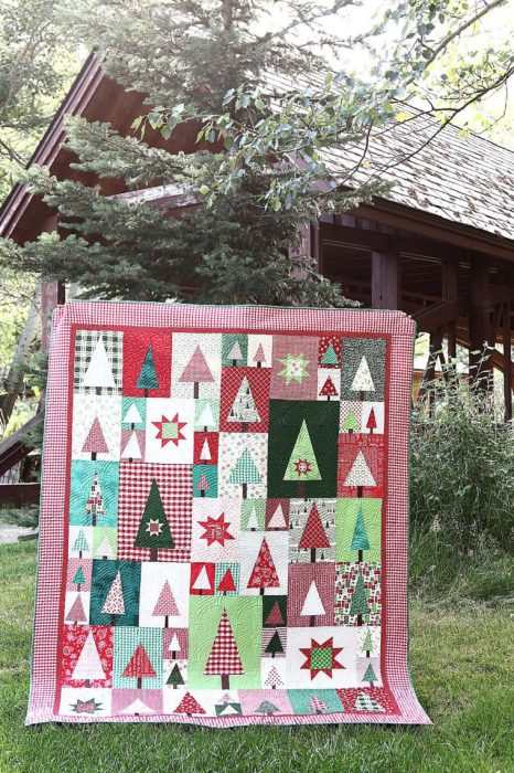 Welcome to the Patchwork Forest Quilt Along! by popular quilting blog, Diary of a Quilter: image of a patchwork forest quilt.