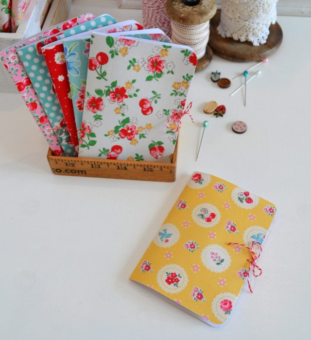 Fabric Covered Needle Cards - guest post by Sedef Imer by popular quilting blog, Diary of a Quilter: image of fabric covered needle cards books.