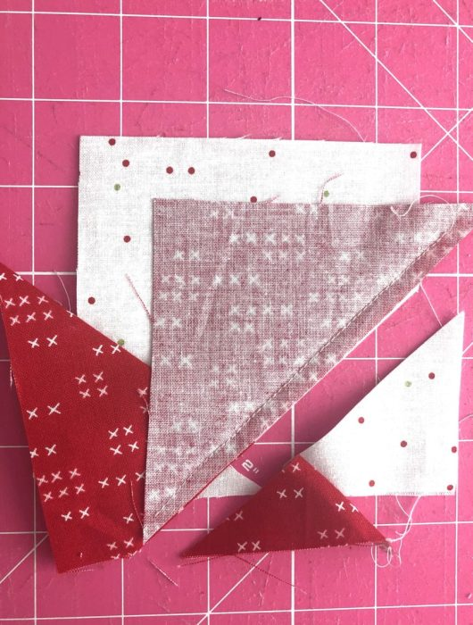 Adding points to Wonky Star Quilt Block | Pine Hollow Patchwork Forest Quilt Along Week 4 by popular Utah quilting blog, Diary of a Quilter: image of fabric for wonky star quilt block.