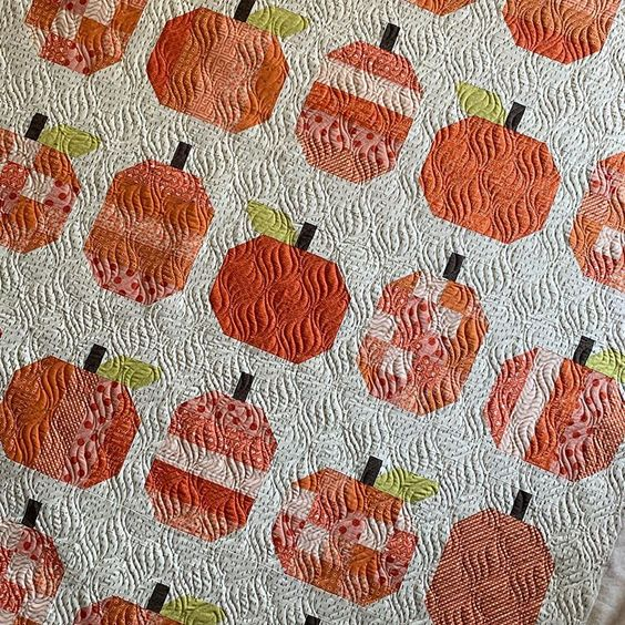 Shop Sale from Sew Shabby Quilting + Giveaway by popular Utah quilting blog, Diary of a Quilter: image of a pumpkin quilt.