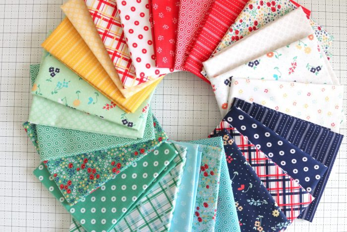 Sugarhouse Park Fabric Collection by Amy Smart by popular Utah quilting blog, Diary of a Quilter: image of Sugarhouse Park Fabric fat quarters.