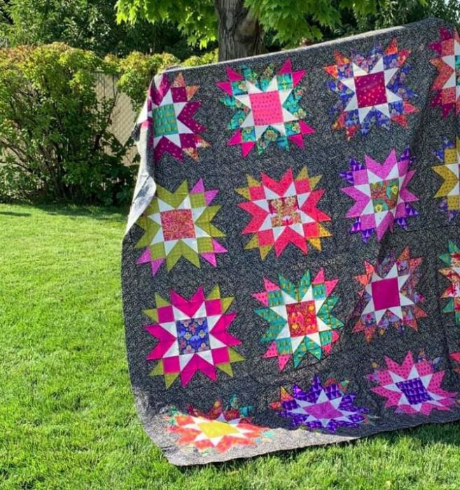 Astral Quilt Kit from Sew Shabby Quilting | Shop Sale from Sew Shabby Quilting + Giveaway by popular Utah quilting blog, Diary of a Quilter: image of a Astral quilt.