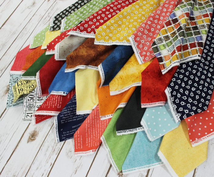 Meet updated Fort Worth Fabric Studio + Giveaway by popular Utah quilting blog, Diary of a Quilter: image of Painter's Palette fabric