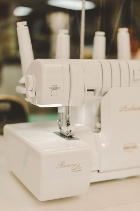 Shop Local - My Girlfriend's Quilt Shoppe + Giveaway by popular Utah quilting blog, Diary of a Quilter: image of a Revolution Air sewing machine.