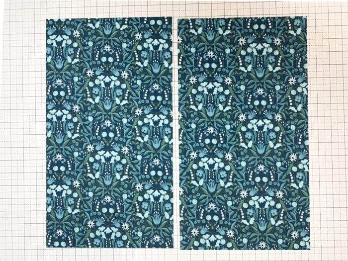 Fast & Easy Fat Quarter Quilt by popular Utah quilting blog, Diary of a quilter: image of a fat quarter fabric cut in half.