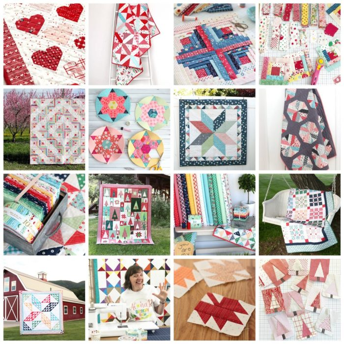 A Year in Review: Looking back at 2019 + Looking forward to 2020 by popular Utah quilting blog: collage image of various quilting projects.
