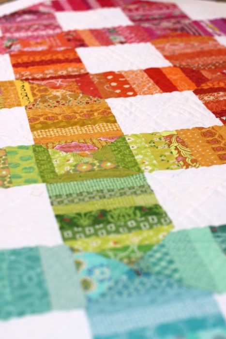 Use fabric scraps - spectrum quilt by Amy Smart