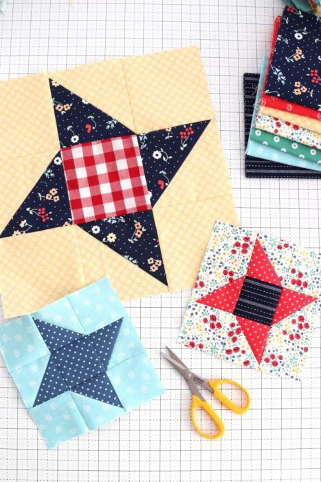 Friendship Star quilt block - tutorial