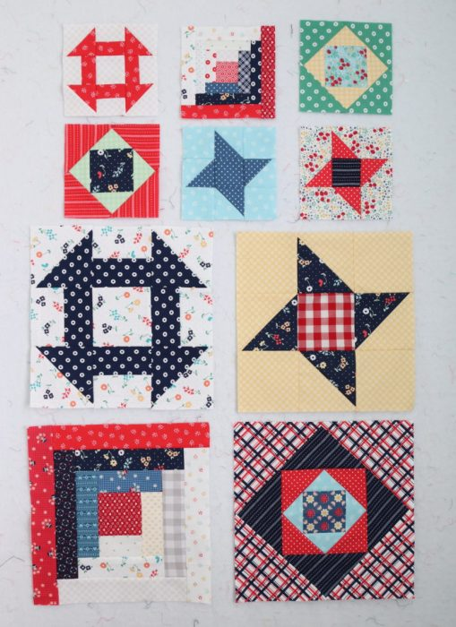 Classic Quilt Block tutorials - featuring Sugarhouse Park Fabric by Amy Smart