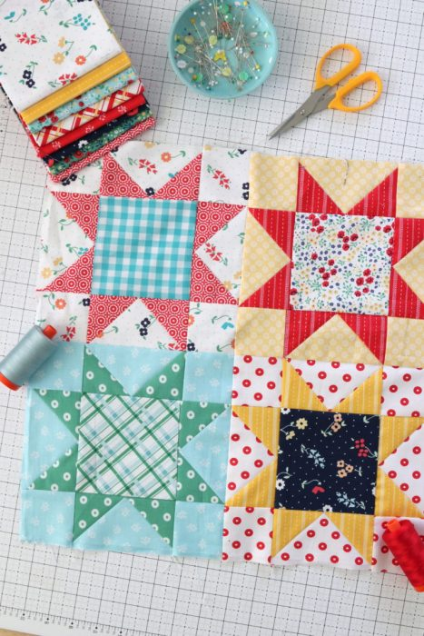 Sawtooth Star traditional quilt blocks by Amy Smart - Diary of a Quilter