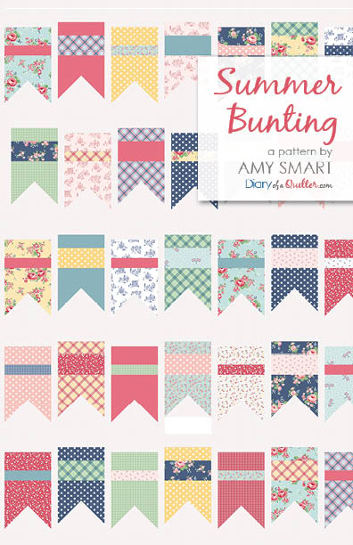Summer Bunting quilt pattern by Amy Smart featuring Notting Hill fabric collection