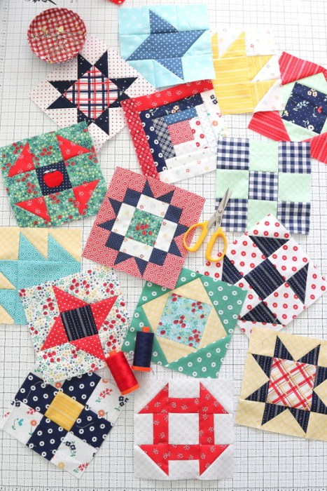 Traditional quilt block tutorials featuring Riley Blake Designs fabric by Amy Smart