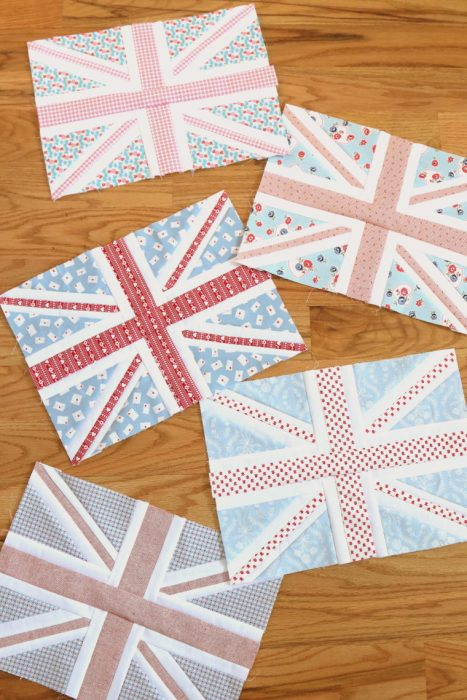 Union Jack quilt block pattern by Amy Smart - Diary of a Quilter