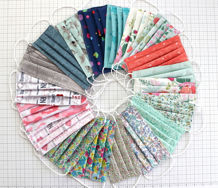 DIY Fabric Face Cover Kit Yard Quarters Bundles Fabric for Patchwork Face Cover Elastic