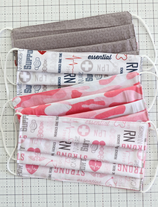 Quick and Easy DIY Fabric Face Mask tutorial featured by top US quilting blogger, Diary of a Quilter.