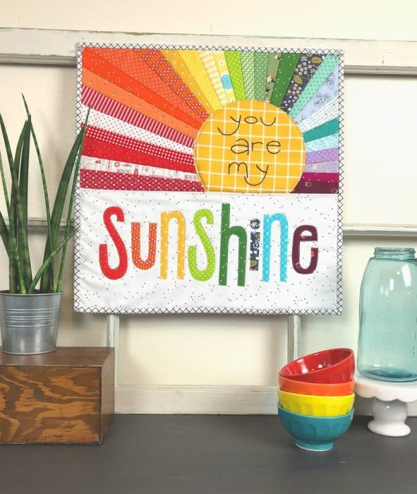 You Are My Sunshine mini quilt pattern by Ameroonie Designs