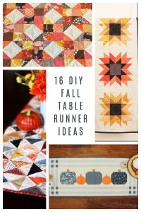 16 DIY Fall Patchwork Table Runner Tutorials and Ideas