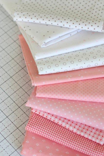 Riley Blake Pink and White Basics prints