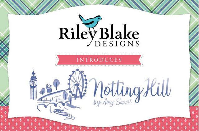 Notting Hill fabric collection by Amy Smart for Riley Blake Designs.