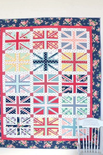 Regent Street Union Jack quilt pattern by Amy Smart featuring Notting Hill fabric