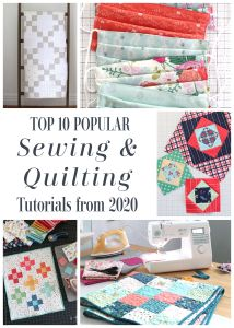Best Quilt and sewing tutorials from Diary of a Quilter in 2020