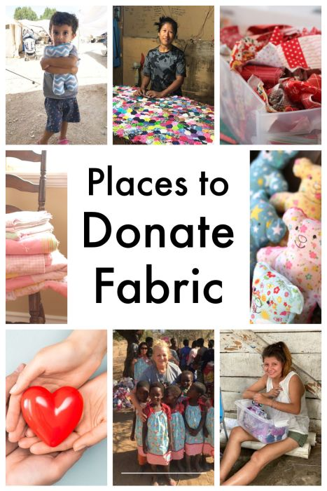 Charities and Places to Donate Fabric
