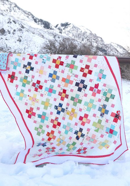 """County Fair Scrap Quilt Pattern by Amy Smart - perfect for using 2 1/2"""" squares"""