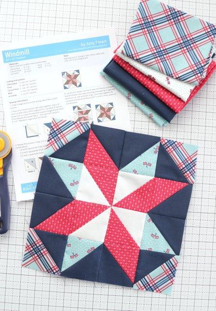 Riley Blake Designs 2021 Quilt Block Challenge - Free quilt block pattern
