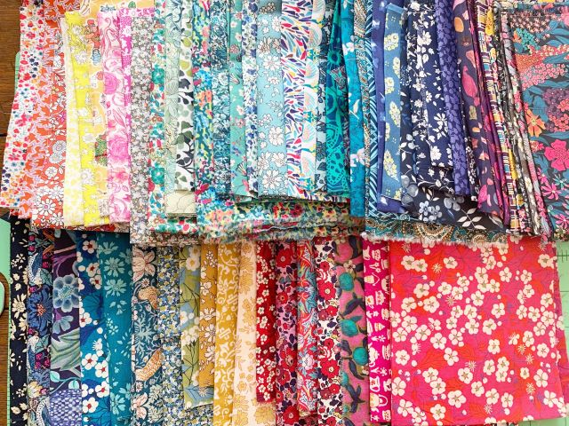 Libery Lawn Fabric pull for EPP