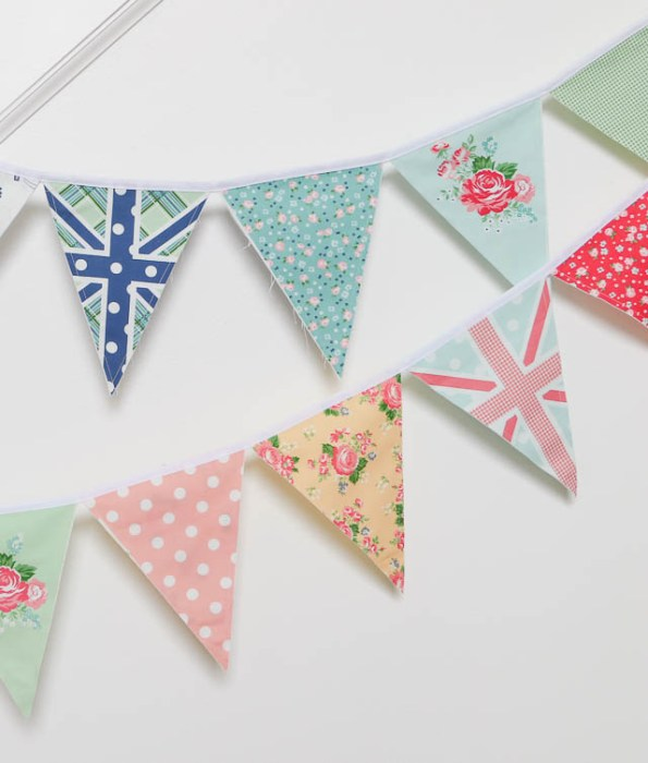 Union Jack bunting/pennant flags - part of Notting Hill fabric panel