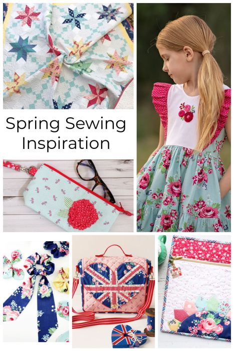 Spring Sewing Project Inspiration - including Bags, Pouches, and Quilts - featuring Notting Hill from Riley Blake Designs